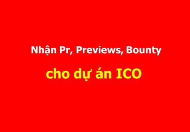 Nhận làm Airdrop, Bounty và Reviews, Pr, Quảng cáo ICO, TradeCoin, Forex, Tài Chính