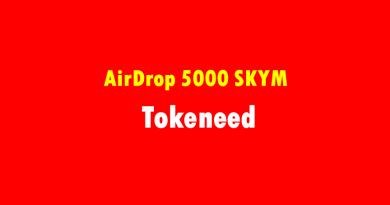 Nhận Airdrop miễn phí chất lượng 5000 SKYM từ Tokeneed